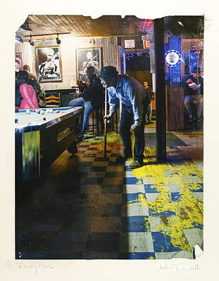Pool Hall - The Rusty Nail Polaroid Transfer Art Print