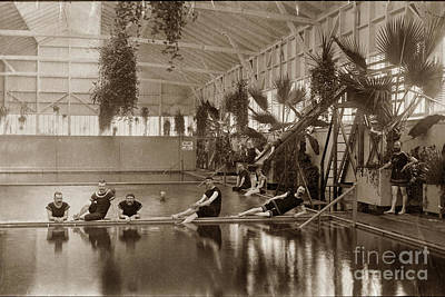 Photograph - Pool In The Del Monte Bath House Monterey Circa 1885 by California Views Archives Mr Pat Hathaway Archives
