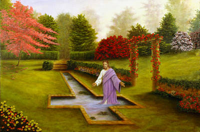 Art Print featuring the painting Pool Of Forgiveness by Rick Fitzsimons
