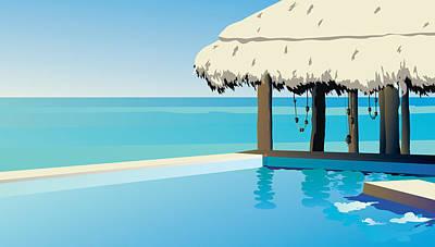 Digital Art - Pool On The Ocean by Robert Korhonen