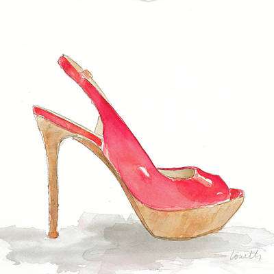 Stilettos Painting - Pool Party Stiletto by Lanie Loreth