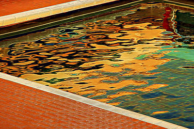 Photograph - Pool Reflections by Maria Coulson