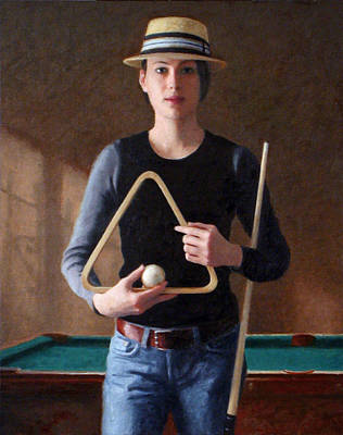 Snooker Painting - Pool Shark by Charles Pompilius