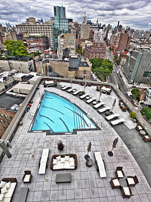 Photograph - Pool With A View by Steve Sahm