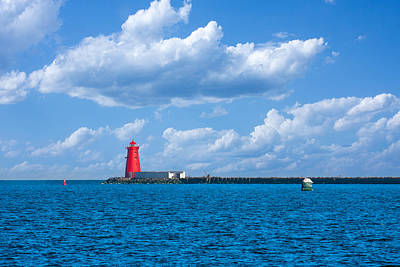 Photograph - Poolbeg Lighthouse In Dublin Bay by Semmick Photo