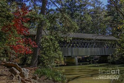 Photograph - Pooles Mill Covered Bridge by Barbara Bowen
