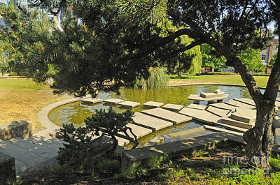 Photograph - Pools And Steps In Chinese Garden by Brenda Kean