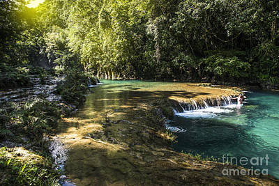 Natural Pool Photograph - Pools Of Semuch-champey by Yuri Santin