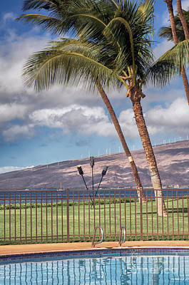Photograph - Poolside In Maui by Trever Miller
