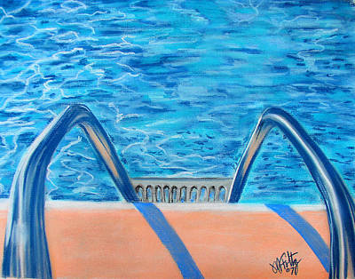 Painting - Poolside by Michael Foltz