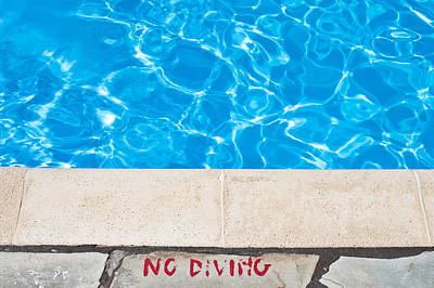 Poolside Warming Print by Tom Gowanlock