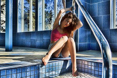 Photograph - Poolside by Waywardimages Waywardimages