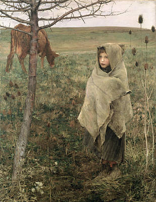 Homeless Painting - Poor Fauvette, 1881 by Jules Bastien-Lepage