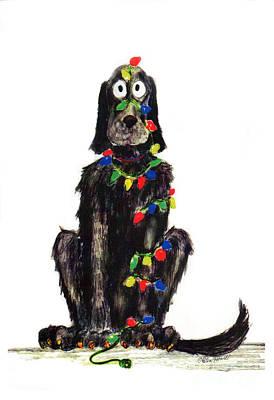 Painting - Poor Jack Christmas Lights by Ellen Howell