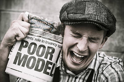 Homeless Photograph - Poor Model by Jorgo Photography - Wall Art Gallery