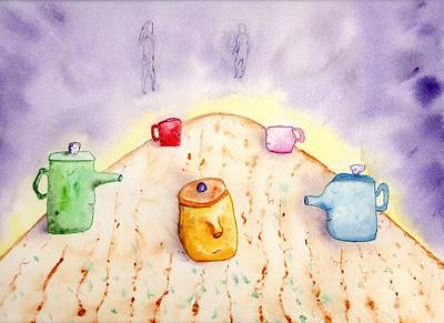 Painting - Poor Orange Pot Having A Bad Day by Jim Taylor