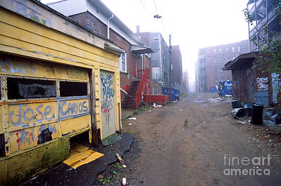 Ghetto Photograph - Poor Urban Neighborhood by Denis Tangney Jr
