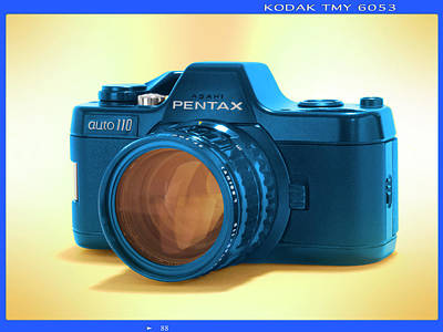 Pop Art Royalty-Free and Rights-Managed Images - Pop Art 110 Pentax by Mike McGlothlen