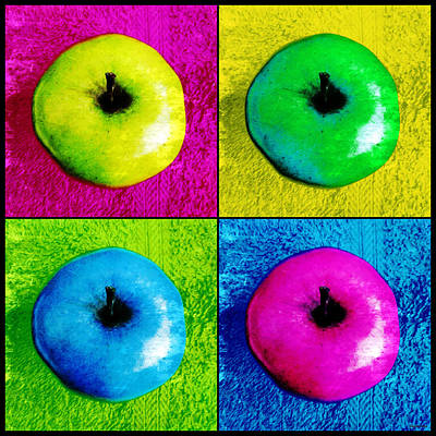 Photograph - Pop Art Apples by Shawna Rowe