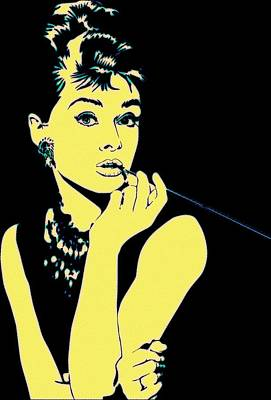 Painting - Pop Art Audrey by Florian Rodarte