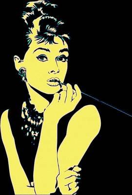 Audrey Hepburn Painting - Pop Art Audrey by Florian Rodarte