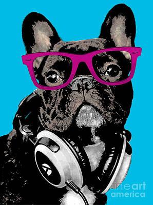Adorable Digital Art - Pop Art Bulldog  by Artur Dabrowski