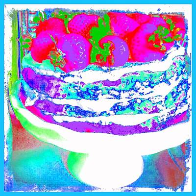 Photograph - Pop Art Cake by Marianne Dow