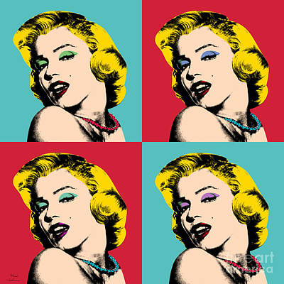 Monroe Painting - Pop Art Collage  by Mark Ashkenazi