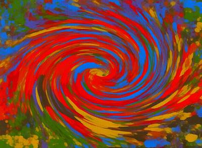 Cotton Mixed Media - Pop Art Color Swirl by Dan Sproul