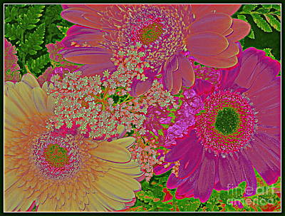 Pop Art Daisies Art Print by Dora Sofia Caputo Photographic Art and Design