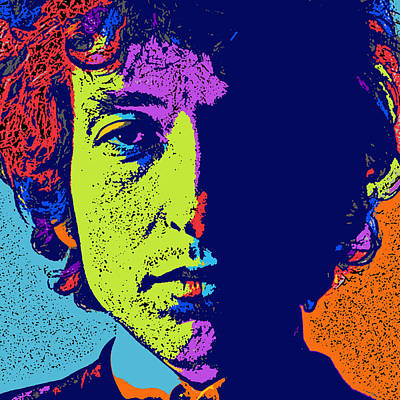Musicians Digital Art Royalty Free Images - Pop Art Dylan Royalty-Free Image by David G Paul