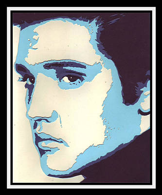 Pop-art Elvis Original by Bernie Levine