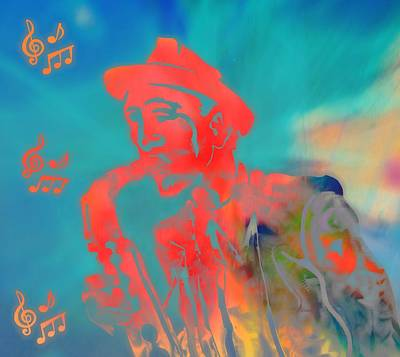 Improvisation Digital Art - Pop Art Jazz Man by Dan Sproul