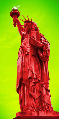 Vibrant Color Photograph - Pop Art Liberty by Mike McGlothlen