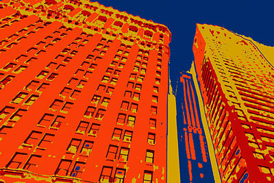 Nyc Digital Art - Pop Art Nyc 2 by David G Paul