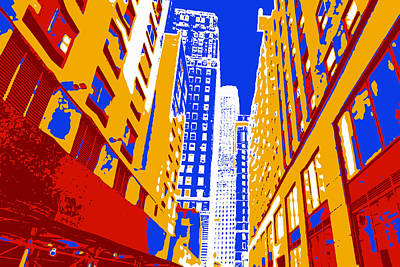 Nyc Digital Art - Pop Art Nyc 3 by David G Paul