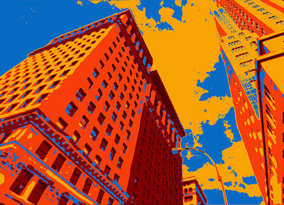 Nyc Digital Art - Pop Art Nyc by David G Paul