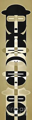 Photo Royalty Free Images - Pop Art People Totem 3 Royalty-Free Image by Edward Fielding
