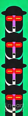 Abstract Royalty-Free and Rights-Managed Images - Pop Art People Totem 4 by Edward Fielding