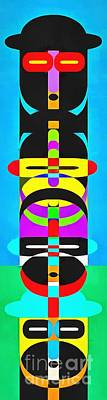 Royalty-Free and Rights-Managed Images - Pop Art People Totem 7 by Edward Fielding