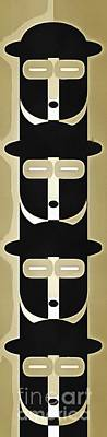 Abstract Royalty-Free and Rights-Managed Images - Pop Art People Totem 9 by Edward Fielding