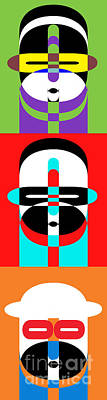 Abstract Royalty-Free and Rights-Managed Images - Pop Art People Totem by Edward Fielding