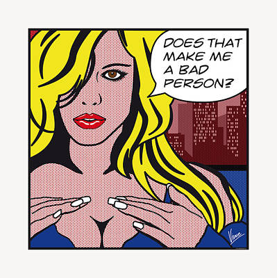 Adult Digital Art - Pop Art Porn Stars - Lindsay Marie by Chungkong Art