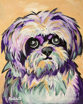 Shih Tzu Painting - Pop Art Shih Tzu by Robin Wiesneth