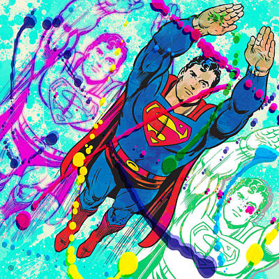Painting - Pop Art Superman by Gary Grayson
