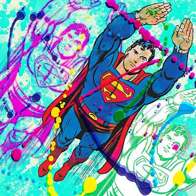 Painting - Pop Art Superman by Gary Grayson