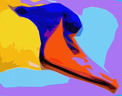 Nibs Mixed Media - Pop Art Swan by Brian Stevens