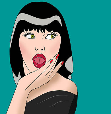 Character Portraits Painting - Pop Art Woman  by Mark Ashkenazi