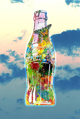Engraving Digital Art - Pop Coke Bottle by Gary Grayson