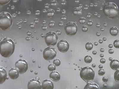 Raindrops Dance Photograph - Pop Dem Bubbles by Sharon Coles